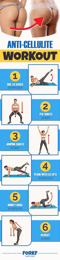 These exercises help you reduce the fat and cellulite around your thighs and buttocks, and also make your muscles stronger and tighter!