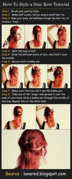Styling a Hair Bow Tutorial | Beauty Tutorials