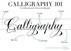 Calligraphy 101 - Ceci Johnsons' guide to the art of calligraphy.