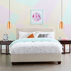 || PASTEL POP || 'Dasch' Bed Frame. #domayne #bed #pastel #bedroom #home #interiors #styling