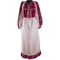 Ie Romanească cu decor geometric, din zona Argeșului - Flori de ie Cold Shoulder Dress, Costume, Dresses, Decor, Fashion, Folklore, Vestidos, Moda, Decoration