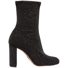 Shop This Fall's Major Shoe Trend: Glitter Boots - Giorgia glittered velvet sock boots from InStyle.com
