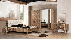 Modern Bedroom Furniture, Modern Room, Furniture Design, Metal Furniture, Bedroom 2018, Bedroom Sets, Bedroom Decor, Room Color Design, Small Apartment Bedrooms