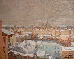 «Москва зимой».  Николай Иванович Боровской