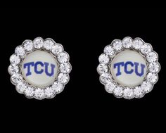 TCU Circle Earrings $42.00