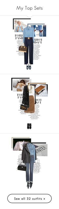 """My Top Sets"" by veronicamastalli ❤ liked on Polyvore featuring MiH Jeans, Lanvin, Chiara Ferragni, Lauren Ralph Lauren, Louis Vuitton, Miu Miu, Victoria Beckham, Giuseppe Zanotti, Dolce&Gabbana and Bee Charming"