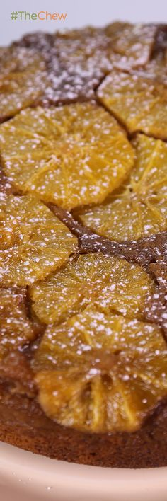 Ginger Orange Upside Down Cake by Carla Hall - give your tastebuds a treat with this zesty, not-too-sweet treat. #TheChew