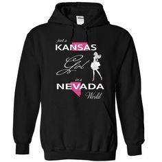 I Love KANSAS GIRL IN NEVADA WORLD Shirts & Tees