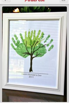 Fathers day kids classy version of handprint tree