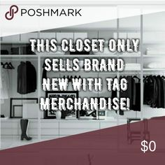 NEW WITH TAGS ONLY! WHATS YOUR FAVORITE BRANDS! This closet is specifically for my favorite items! I decided to take my poshmark to the next level, and purchase the things I love for me and you! I would love to hear your favorite brands or that one piece of clothing you can't put down!!! This a start to my posh fashion blog and I love that you are here along with me on the journey!!!! So much love to my supporters!!!! Bags