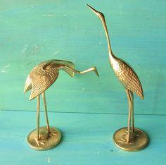 Vintage Nautical Brass Cranes by happybdaytome on Etsy, $26.00