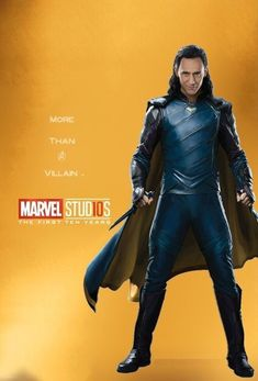 #Loki More Than A Villain Character posters for Marvel Studios' 10th anniversary