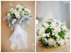 My gorgeous bouquet, with lace from my moms wedding dress around the bottom! Photo credit to Tamara Lockwood