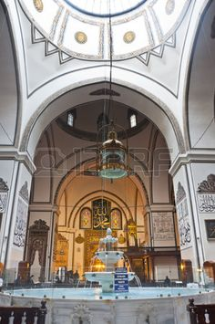 A - Interior of the Great Mosque, or Ulucami in Bursa, Turkey Stock Photo
