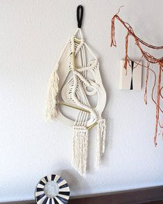 """Macrame Wall Hanging """"Liquid no.2"""" by HIMO ART, One of a kind Handcrafted Macrame/Rope art"""