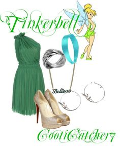 """""""Tinkerbell Prom"""" by cootiecatcher7 on Polyvore"""