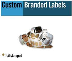 labels, printed labels, hot stamped labels