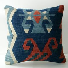 Sukan / Turkish Vintage Kilim Pillow Cover, Decorative Pillow Decorative Throw Pillow Cover- 16x16