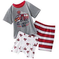 $12 Jumping Beans Fire Truck Pajama Set - Toddler