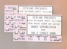 Bruce Springsteen Tickets 1985