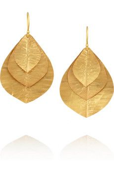 GIVE ME THESE IMMEDIATELY. Just kidding, I'd like them for my wedding...  Kevia Gold-plated earrings | THE OUTNET