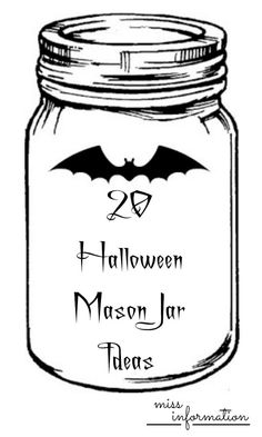 Lots of great Halloween Mason Jar Ideas includeing crafts, decor, and recipes.