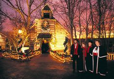 The Wilderness Church at Silver Dollar City during An Old Time Christmas