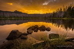 Jack Lake Golden Hour by James Dustin Parsons on 500px