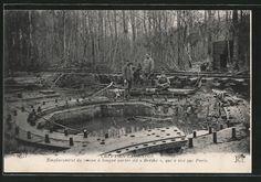 """old postcard: AK Crepy-en-Laonnois, Emplacement du canon a longue portee di """"Bertha"""", qui a tire sur Paris"""