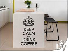 #felirat #konyha #falmatrica #faldekoráció #dekorálás #lakberendezés #lakásdekoráció #otthon #keepcalm #kávé Keep Calm And Drink, Coffee Drinks, Canning, Home, Ad Home, Homes, Home Canning, Haus, Conservation