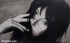 """Clara"" - Rumsz Lec Painting. Oil in board.  https://www.facebook.com/Rumsz-Lec-159574767726505/"