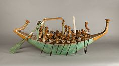 Funerary Boat being Rowed. Egypt, Middle Kingdom, Dynasty 12, reign of Amenemhat I, early. Date: ca. 1981–1975 B.C.