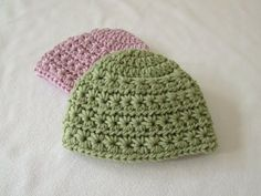 How to crochet an easy shell stitch hat - all sizes (baby to adult) - YouTube