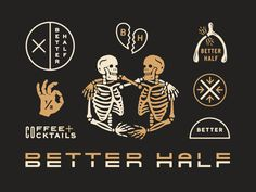 Better Half System designed by Lauren Dickens. Connect with them on Dribbble; Brand Identity Design, Logo Design, Graphic Design, Cafe Concept, Mobile Art, Badge Design, Better Half, Sale Poster, Creative Inspiration
