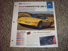 USA 1990-1995 Chevy Corvette ZR-1 Hot Cars Group 3 # 4 Spec Sheet Brochure