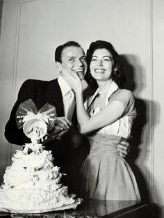 Frank Sinatra and Ava Gardner on their wedding day, November 7, 1951.
