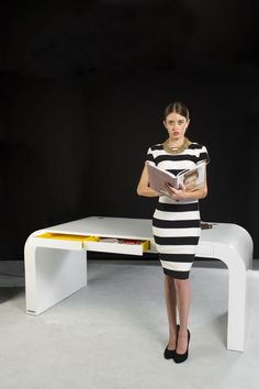 Executive, Minimalistic and Modern Desk by Signalement  www.signalement.com Contemporary Desk, Modern Desk, Minimalist, Dresses For Work, Lounge, Table, Furniture, Collection, Design