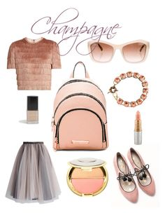"""""""Champagne"""" by ellynzara on Polyvore featuring Kendall + Kylie, Boden, Raey, Chicwish, Sephora Collection, Chanel, Torrid and MAC Cosmetics"""
