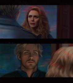 Marvel Avengers Movies, Loki Marvel, Elizabeth Olsen Gif, Marvel Instagram, Eye Drawing Simple, Saga Art, Strongest Avenger, Wanda Marvel, Marvel Couples