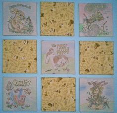 Little Golden Book Wall Art  9 pieces by slechleiter on Etsy, $150.00