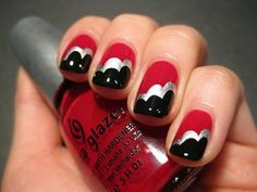 10 Valentine's Day Nail Art Designs You Must Check Out! Sexy Nails, Love Nails, How To Do Nails, Fun Nails, Pretty Nails, Nail Manicure, Nail Polish, Manicures, Red Nail Art