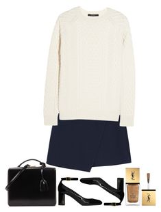 """""""Lorraine Hannsberry"""" by poshandy ❤ liked on Polyvore featuring Yves Saint Laurent, Mark Cross, Carven, Gucci, parisfashionweek and Packandgo"""