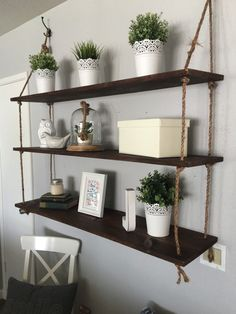 Set of 3 Floating Shelves by uniquetaylormade on Etsy https://www.etsy.com/listing/295010771/set-of-3-floating-shelves