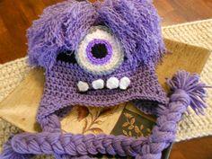 Uncinetto cappello di Evil Minionneonato per di SweetpeasAlley