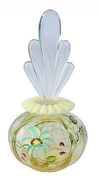 Fenton Art Glass - 6 1/2'' Daisy Blue on Silken Sand Perfume