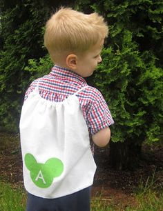 DIY Drawstring Backpacks - sewing for kids