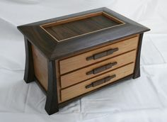 3 drawers ... walnut and maple? or cherry?