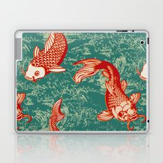 Japanese Koi Design Laptop & iPad Skin by patterndesign - $25.00    Artwork by Alexandra Bolzer Japanese Artwork, Japanese Koi, Laptop Skin, Decorating Your Home, Gadgets, Ipad, Presents, Patterns, Stylish