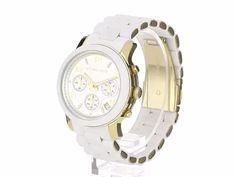 Imported New materials are all the trend in watches; Michael Kors reinvents the best sellers Case diameter: 38 mm Round chronograph Silicone wrapped link bracelet Water resistant to 330 feet M): suitable for snorkeling, as well as swimming, but not diving Michael Kors Wallet, Michael Kors Watch, Link Bracelets, Chronograph, Bracelet Watch, Quartz, Snorkeling, Bling, Watches
