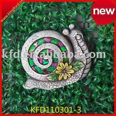 Colorful Mosaic Snail style Cement Stepping Stone